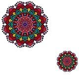 2 Unids / Set Moda Mandala Flores Rayas Parches Ropa Etiqueta De Transferencia De Calor Apliques Ropa Parche De Hierro