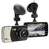 Dash Cam, 4.0' Full HD 1080P 170 Grad Super Weitwinke Autokamera, mit G-Sensor, Loop-Aufnahme,...