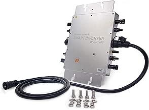 Marsrock IP65 Waterproof 1400W Micro Solar MPPT Grid Tie Inverter Converter for DC 22-50VDC Wide Input to 110V/230VAC Auto Match