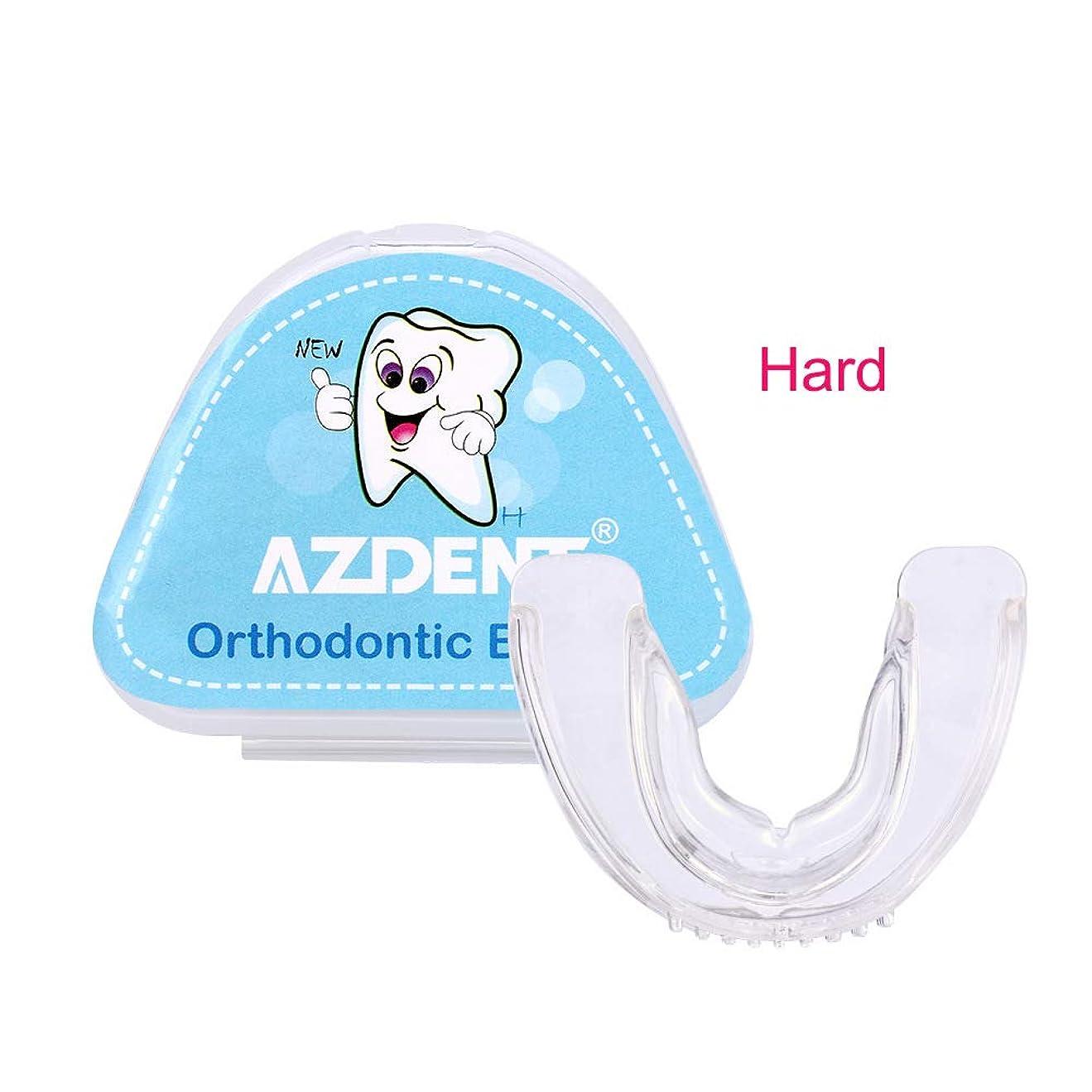 味退院達成する1対の歯列矯正ブレースを改善し、顔の形を整えます,hard