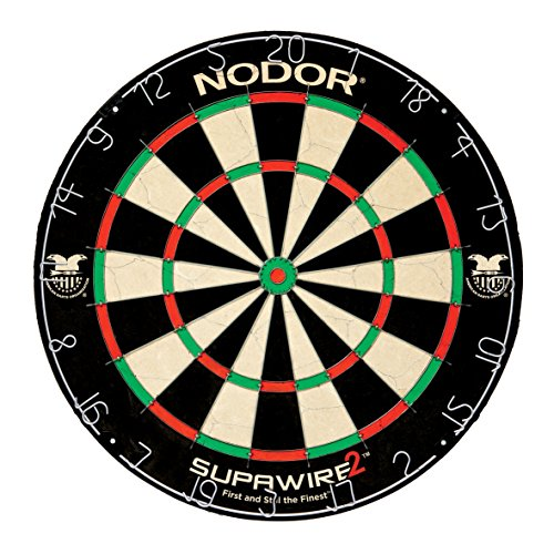 Nodor Supawire 2 Regulation-Size Bristle Dartboard with...