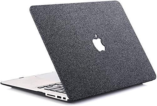 "1SourceTek MacBook Air 13"" case 2020 2019 2018 release A1932 plastica modello guscio rigido compatibile solo con MacBook Air 13 Grigio scintillante."
