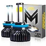 Best H11 Bulbs - Mega Racer 4 Sided H11/H8/H9/H16 LED Headlight Bulbs Review