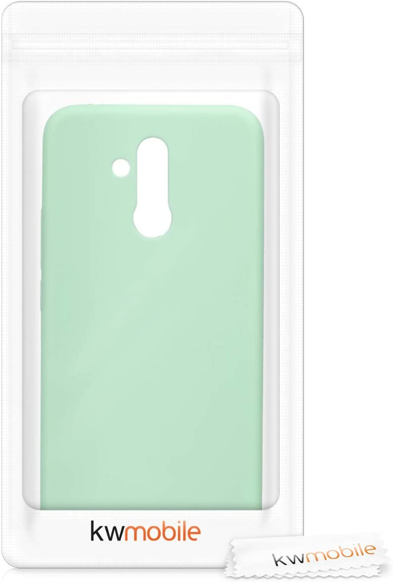 Housse Protectrice pour T/él/éphone en Silicone Bleu Glace kwmobile Coque Compatible avec Huawei Mate 20 Lite