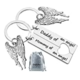 Loss Memorial Keychain Mommy Daddy keyring Set Miscarriage Keepsake Baby Memorial Jewelry Sympathy Gift for Infant Loss Child Loss