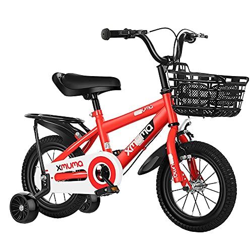 FUFU 14/12/16/18 Pulgada Velocidad Variable Bicicleta de montaña Ligero y a Prueba de Golpes para niños para niños de 2 a 14 años de Edad (Color : Red, Size : 14in)