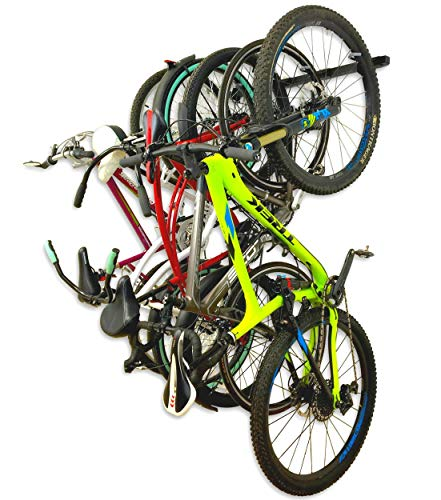 StoreYourBoard Bike Storage Rack, Holds 5 Bicycles, Home and Garage Adjustable Bike Wall Hanger Mount