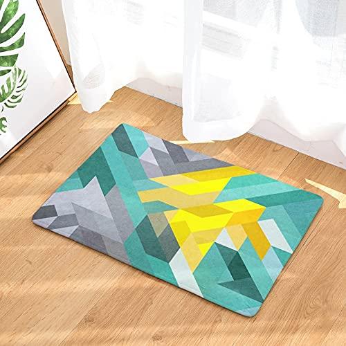 HLXX Alfombrillas geométricas Alfombrillas de Ducha Antideslizantes alfombras de baño Alfombrillas para el hogar Alfombrillas Antideslizantes de Cocina A3 40x60cm