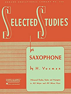 Selected Studies: for Saxophone (Rubank Educational Library)