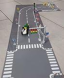 City Verkehrszeichen Set für Bausteine Bauplatten, Straßenplatten Bausteine Ampel & Straßenschilder Set