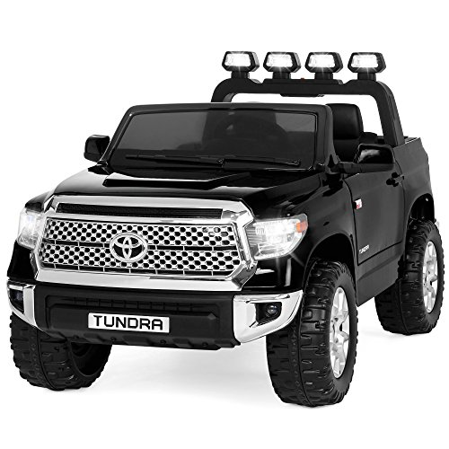Best Choice Products 12V Electric RC Toyota Tundra Ride On Truck w/ LED Lights/Sound, Black