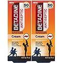 2-Count Betadine First Aid Cream Povidone Iodine Antiseptic, 0.53 oz