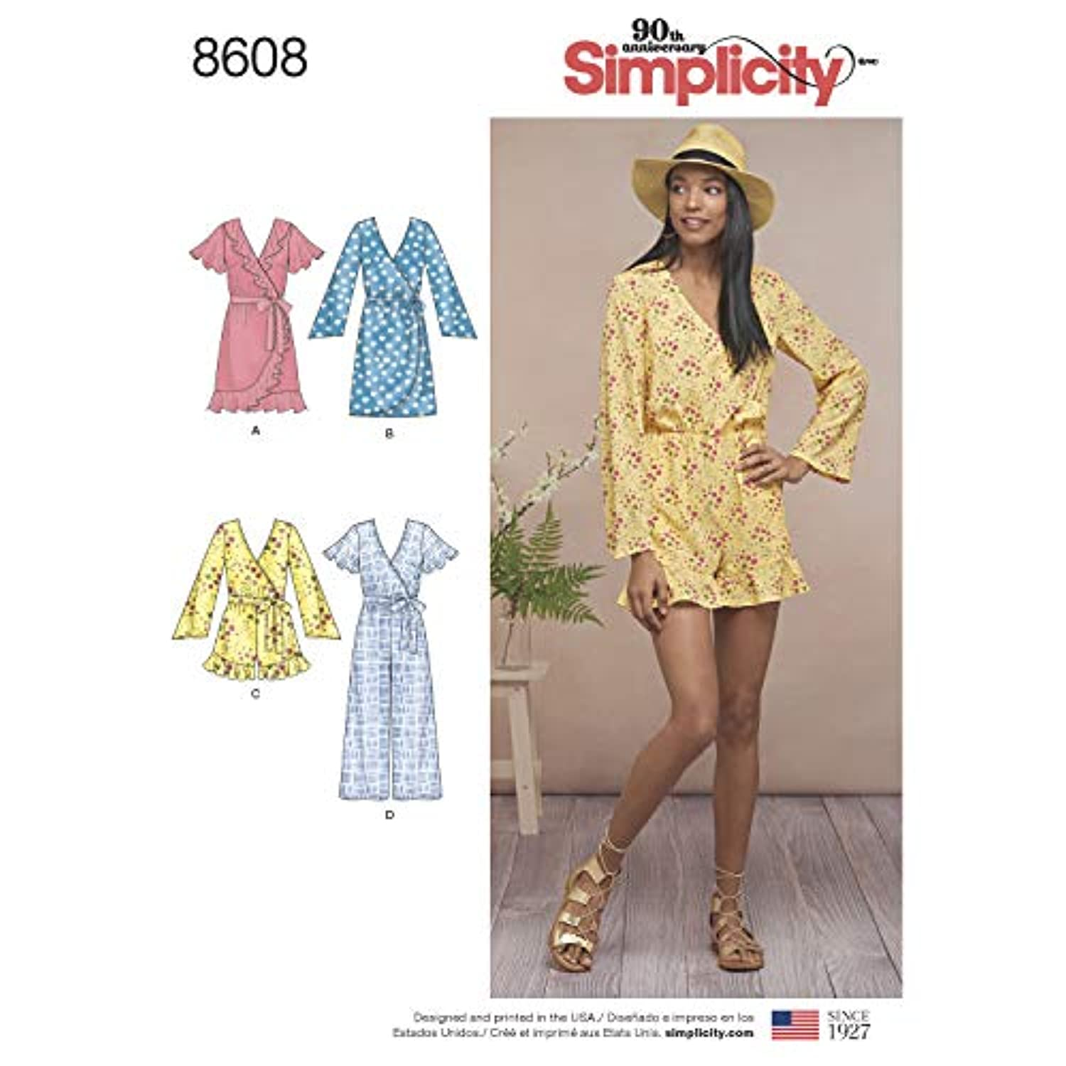 Simplicity Sewing Pattern D0891 / 8602 - Misses Tops in Two Lengths, R5 (14-16-18-20-22)