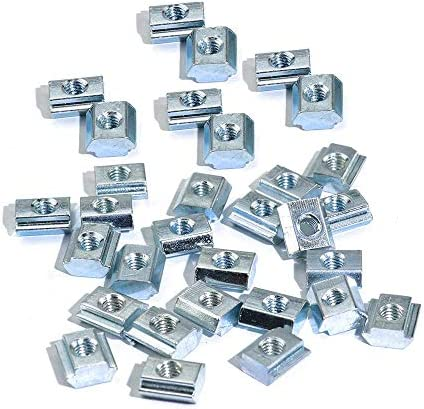 100pcs 20 Series T Sliding Nuts Hammer Nut Block Square Nuts M5 T Nuts for 2020 Aluminum Profiles product image