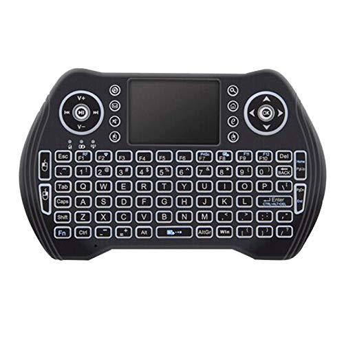 Katigan Retroiluminado 2.4Ghz Teclado InaláMbrico Touchpad RatóN Control Remoto de Mano 3 Colores Luz de Fondo para Android TV Box Smart TV Pc Ordenador PortáTil