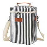 Tirrinia 4 Bottle Wine Carrier - Insulated & Padded Portable Versatile Wine Carrying Cooler Tote Bag...