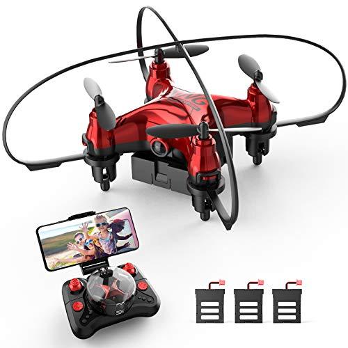 Holyton ドローン カメラ付き こども向け 小型 室内向け WIFI FPV リアルタイム バッテリー3個付き 超安定 超頑丈 200g未満 初心者 体感モード ジェスチャー撮影 高度維持 国内認証済み HT02
