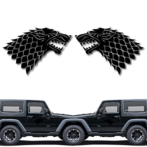 House of Stark Game of Throne Decal Sticker for Car Window, Laptop and More. # 1033 (4  x 5.7 , Black)