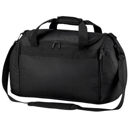 Bagbase Freestyle Holdall/Duffle Bag (26 Litres) (Pack of 2) (One Size) (Black)