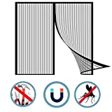 BTCCL Magnetic Screen Flyproof Window Screen Door Curtain Adjustable Self-Installing Paste Simple Non-Magnetic Door Curtain Household Invisible Screen Window Removable