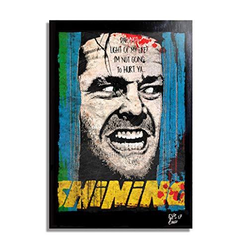 Arthole.it Jack Torrance da The Shining (Stephen King, Kubrick) - Quadro Pop-Art Originale con Cornice, Dipinto, Stampa su Tela, Poster,...
