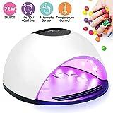 BIGMALL Lámpara De Uñas UV LED Secador De Uñas con Sensor Automático Y Función De Ajuste del Temporizador para Esmalte De Uñas Y Uñas