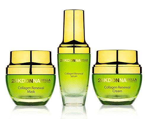 Donna Bella 24K GOLD Collagen Radiance Renewal Set Mask + Cream + Serum Skin Care Set