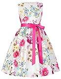 GRACE KARIN Fille Robe Princesse cérémonie Mariage sans Manches 10~11 Ans FR8997-1