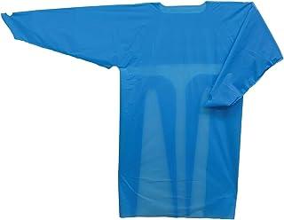 CLIM【厚生労働省納品実績有】 長袖プラスチックガウン プラスチック ガウン 医療用ガウン 防水・防菌 使い捨て 10枚入り ブルー フリーサイズ