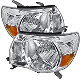 CARPARTSINNOVATE For 05-11 Tacoma Base Pickup Replacement Headlights Clear Head Lamps Set Left+Right