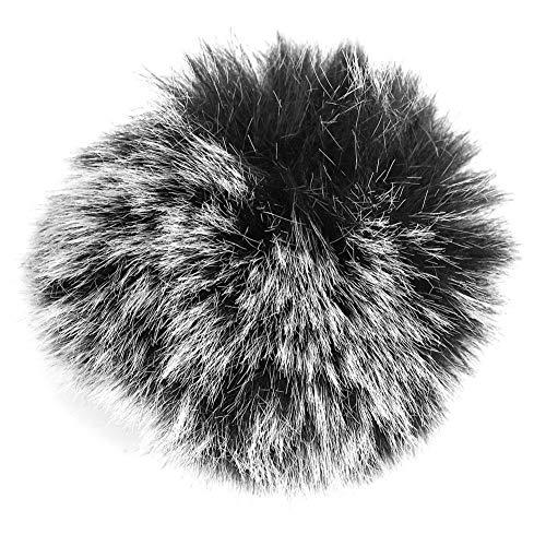 Zerodis Robuuste zwarte microfoon-telefoonhoes, voorruiten-muff-speling voor Wm6/WM8/M1-microfoon