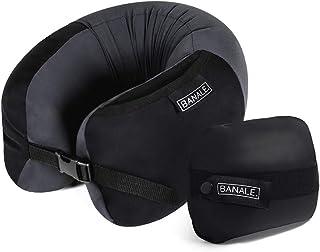 BANALE(バナーレ) NECK PILLOW ネックピロー 低反発素材の旅行枕 トラベルピロー ブラック