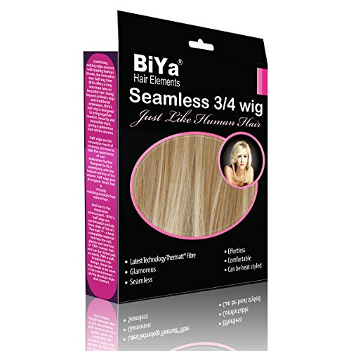BiYa Hair Elements 3/4-clip in halve pruik extensions lengte schouder, blonde dip dye nr. 27T613
