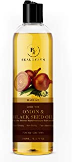 BEAUTYFYN Pure Onion & Black Seed Hair Oil – Natural & Effective Hair Growth Oil for Intense Nourishment – Ideal for Hair ...