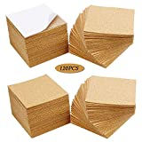 120Pcs Self Adhesive Cork Squares, MOTASOM 4 x 4 Inch Strong Cork Adhesive Sheets, Reusable Cork Board Cork Backing Sheets, Mini Wall Cork Tiles Mat for Coasters and DIY Crafts