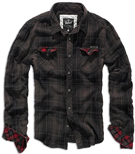 Brandit Checkshirt Duncan Brown-Black M
