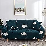 Fundas Decorativas Modernas para reposabrazos con Estampado de Gato con Todo Incluido, Funda de sofá de Animales Bonitos, Funda de sofá seccional elástica A10, 1 Plaza