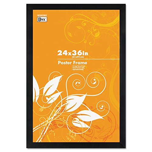 Black Plastic Poster Frame w/Plastic Window, Wide Profile, 24 x 36, Sold as 1 Each