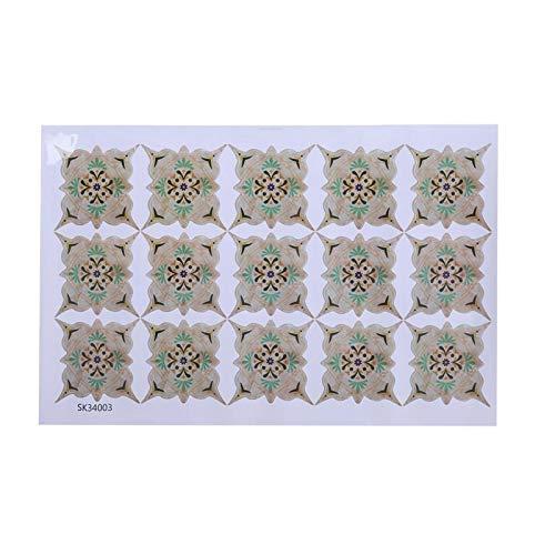Gonnely Pegatinas de Suelo Autoadhesivas Impermeables PVC Pegatina Diagonal Suelo de baldosas Pegatinas de Pared calcomanías de Suelo(3)