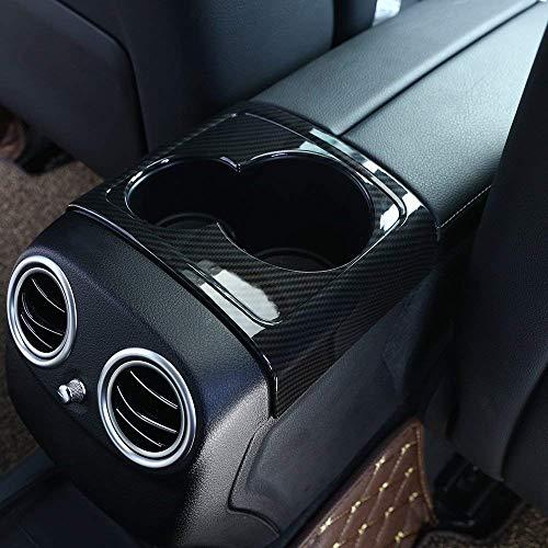 en Plastique ABS arrière rangée Porte-gobelet décoration boîte de Rangement Cadre Couverture Garniture pour Classe E W213 2016-2018 en Fibre de Carbone