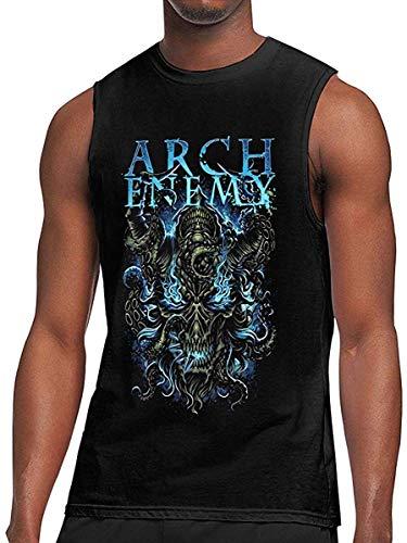 AYYUCY Sportbekleidung Herren Kurzarmshirt Arch Enemy T Shirt Men Fitness Tank Top Workout Gym Sleeveless Breathable