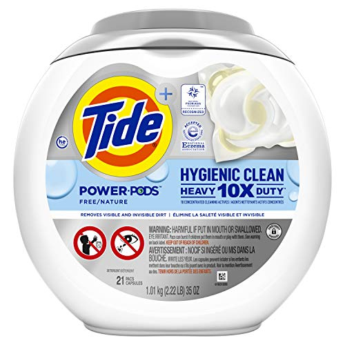Tide Hygienic Clean Unscented Heavy Duty Power PODS Laundry Detergent - 21ct/35oz