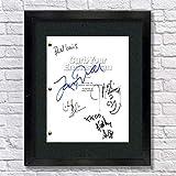 Curb Your Enthusiasm TV Cast Autographed Signed Reprint 8.5x11 Script Framed 13x15 Larry David, Jeff Garlin, Cheryl Hines, Richard Lewis, Kathy Griffin