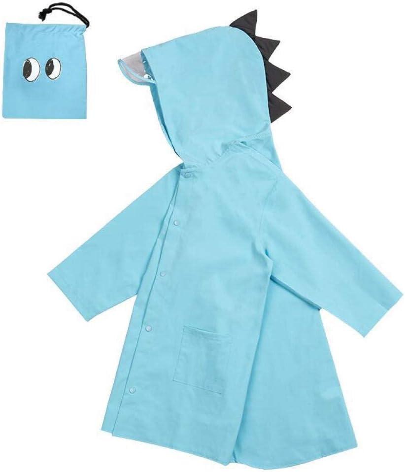 Dinosaur polyester raincoat,outdoor waterproof raincoat,children's rainproof cloak,raincoat for boys and girls-blue_S