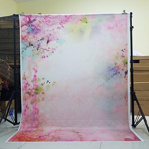 150x200cm Rosa Pastell Blossom gedruckt Foto Studio Newborn Backdrops Baumwolle Polyester Hintergrund für Foto D-6178(NIVIUS PHOTO DE)