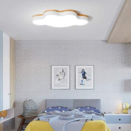 DEJ afstandsbediening plafondlamp modern minimalisme LED houten stijl wolk plafondlamp creatieve slaapkamer eetkamer studie plafondverlichting acryl lampenkap L50Cm W28Cm 16W
