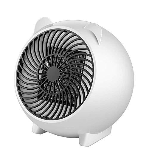 Licidi Mini-verwarming, schattige draagbare kachel van het karikatuurhekkantoor kantoorhuisbureau kleine elektrische verwarming, wit