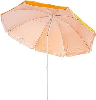 Sombrilla de Playa Plegable Naranja de Nylon de 220 cm
