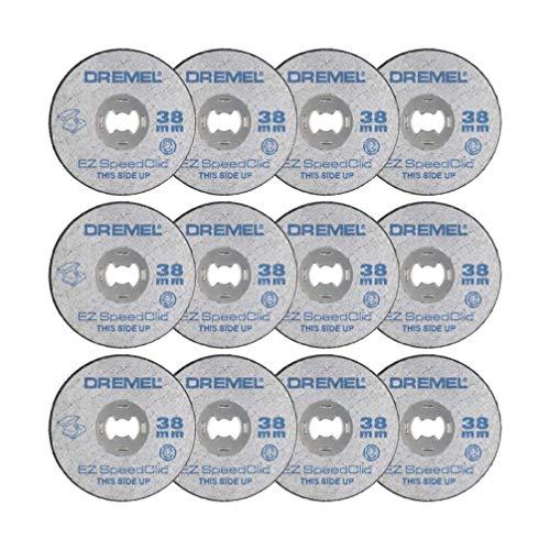 Dremel SC456B Kit de 12 Discos de Corte para Metal. Diámetro 38mm. Diámetro del Vástago 3,2mm