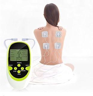 TENS EMS Masajeador y estimulador de pulsos, Electroestimulador Digital Masaje,Recargable con 15 Modos y 8 Almohadillas ideal para Tensión y Manejo del dolor adecuado